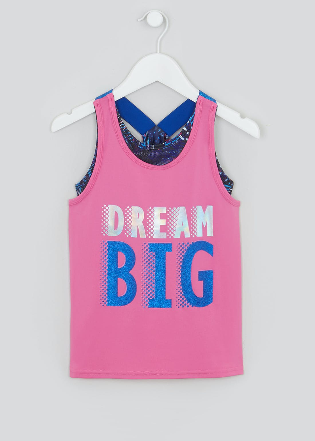 Girls Souluxe Dream Big 2 in 1 Sports Vest (4-13yrs)
