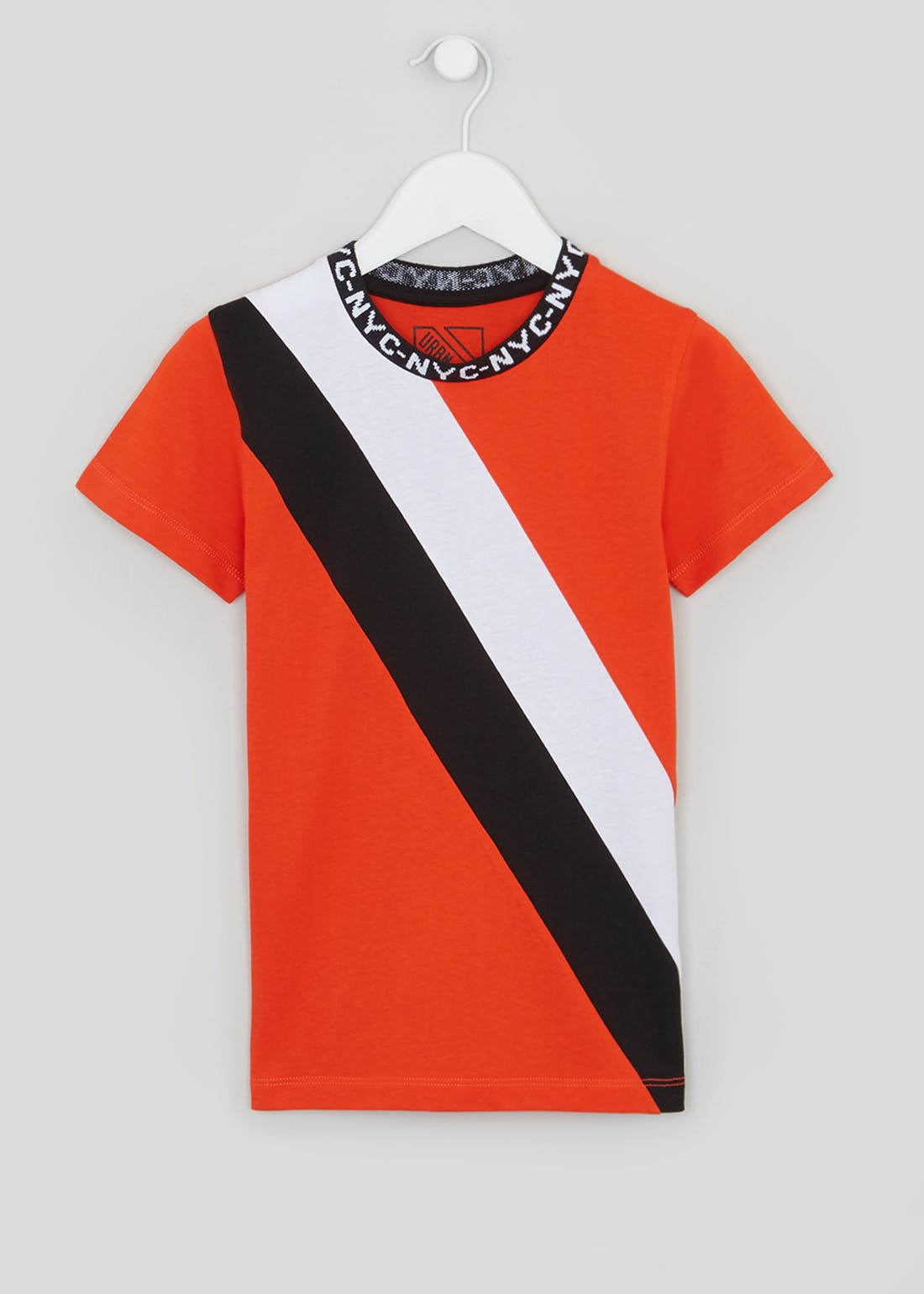 Boys NYC Logo Stripe T-Shirt (4-13yrs)