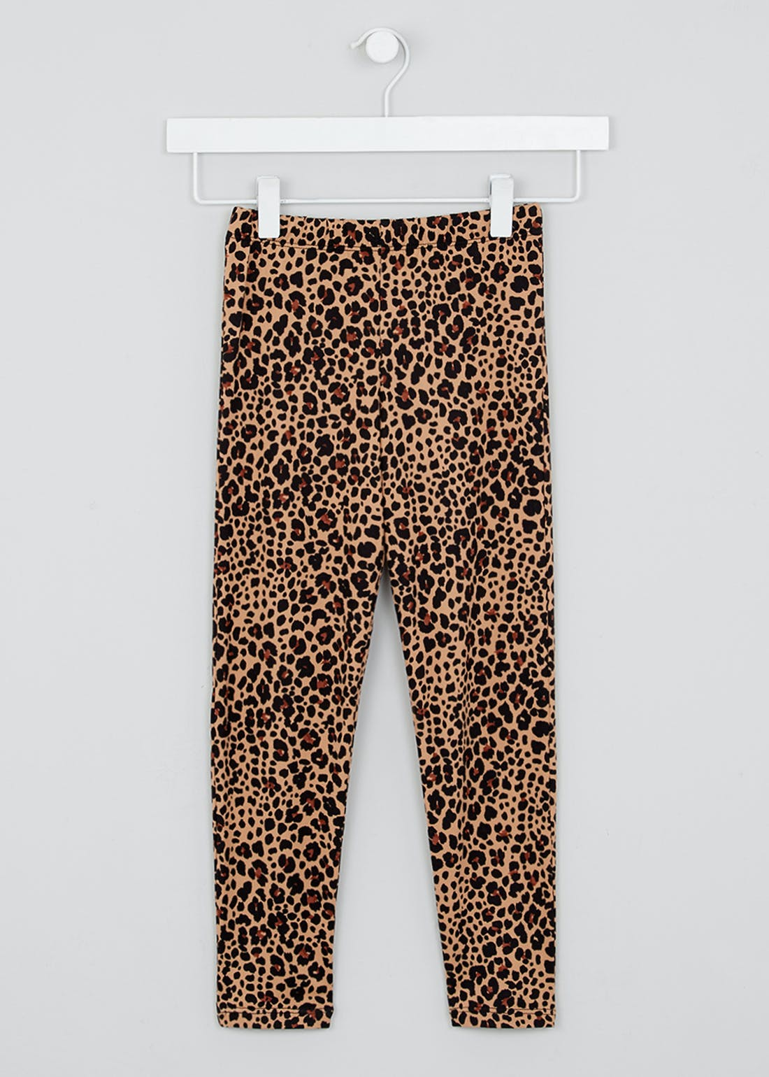 Girls Soft Touch Leopard Print Leggings (4-13yrs)