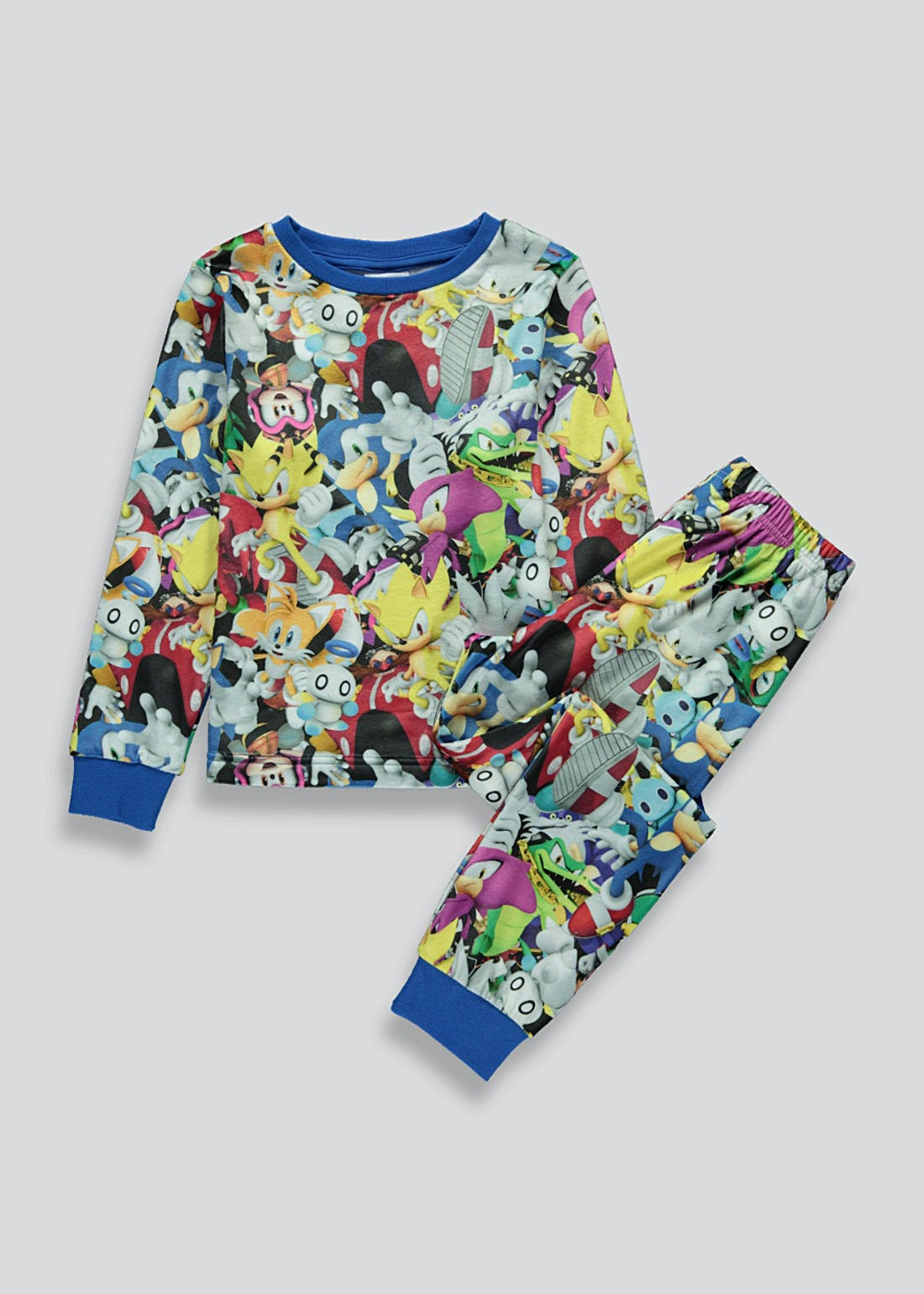 Kids Sonic the Hedgehog Fleece Pyjama Set (5-12yrs)
