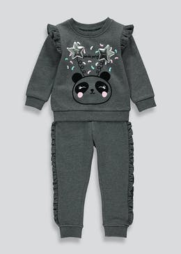 Girls Panda Party Tracksuit (9mths-6yrs)