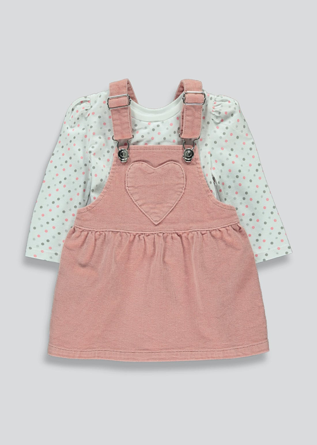 Girls Cord Pinafore & Top Set (9mths-6yrs)
