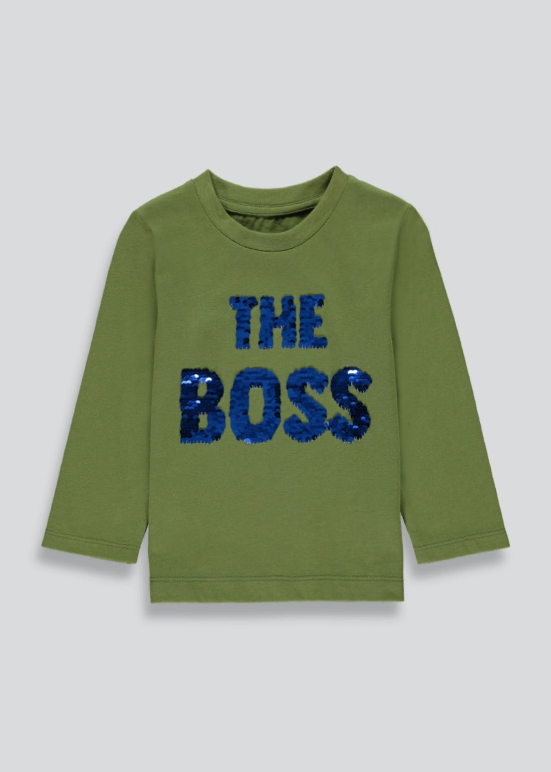 Kids Long Sleeve Flippy Sequin Boss T-Shirt (9mths-6yrs)