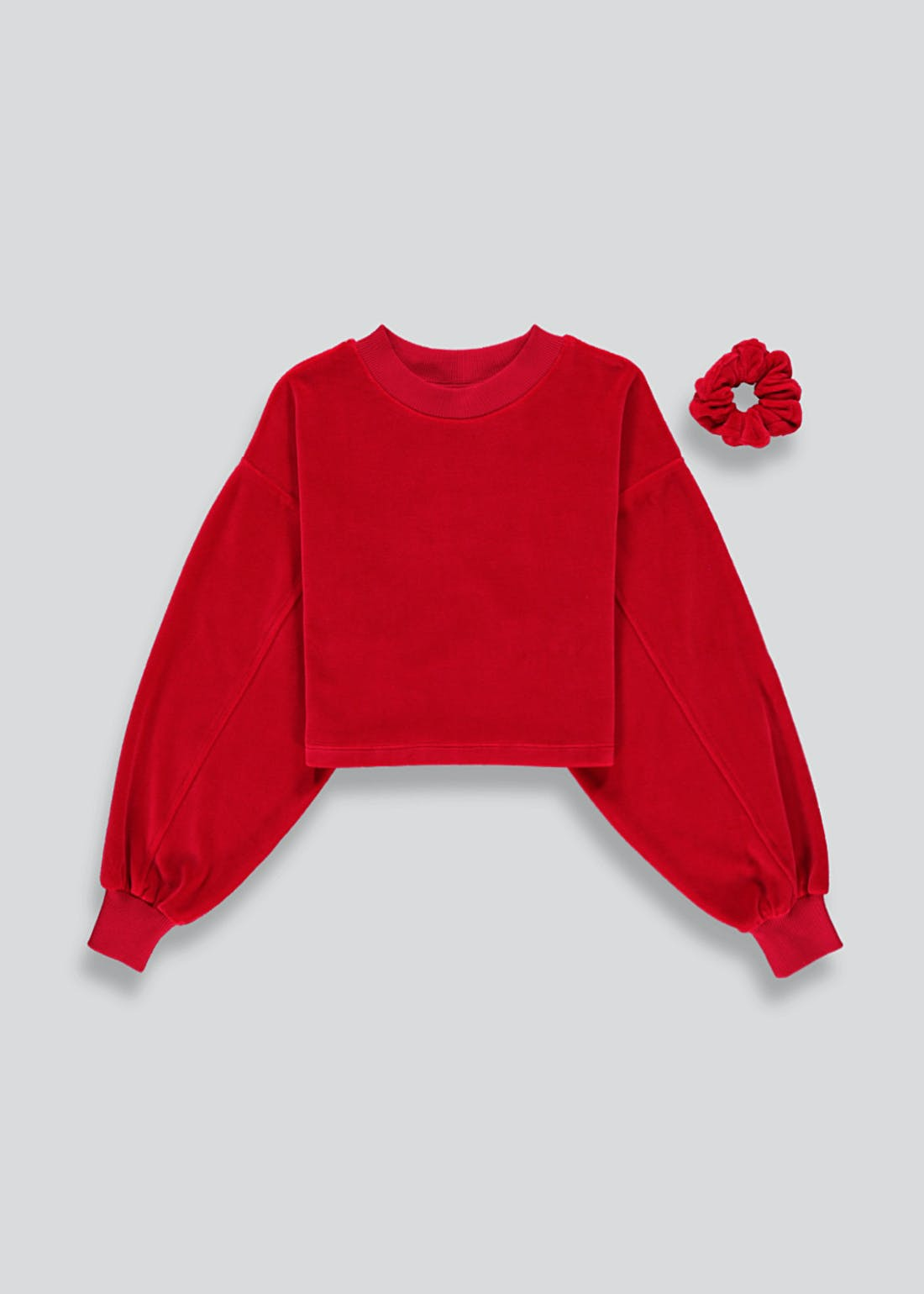 Girls Candy Couture Cropped Sweatshirt & Scrunchie Set (9-16yrs)