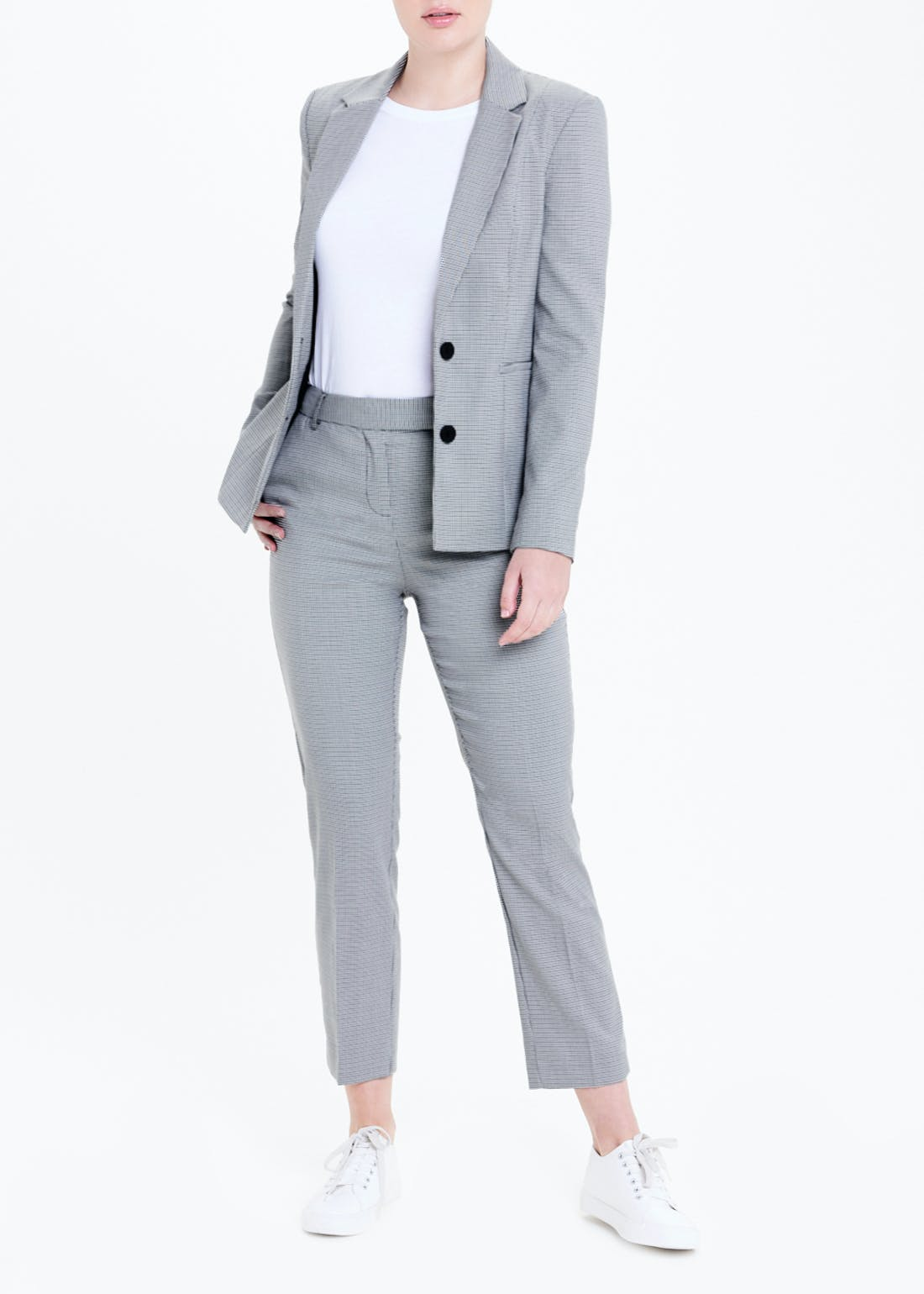 Check Tapered Suit Trousers (Regular)