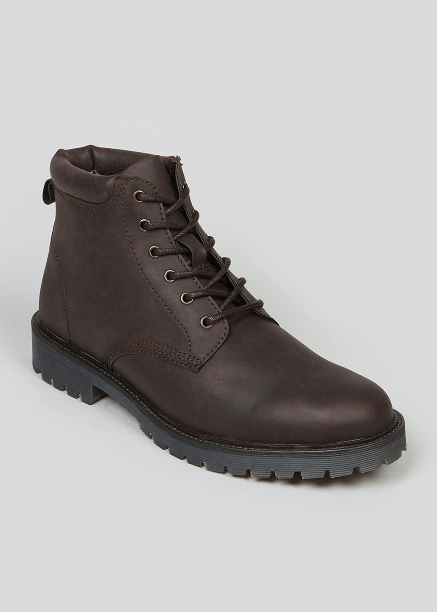 Brown Lace Up Boots