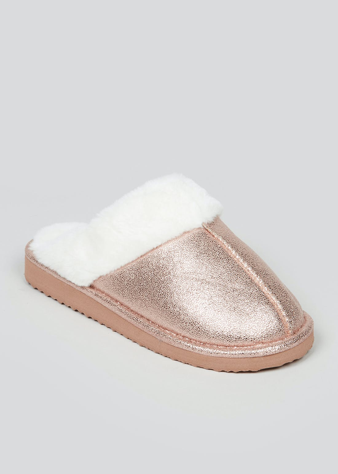 Gold Mule Slippers in Gift Bag