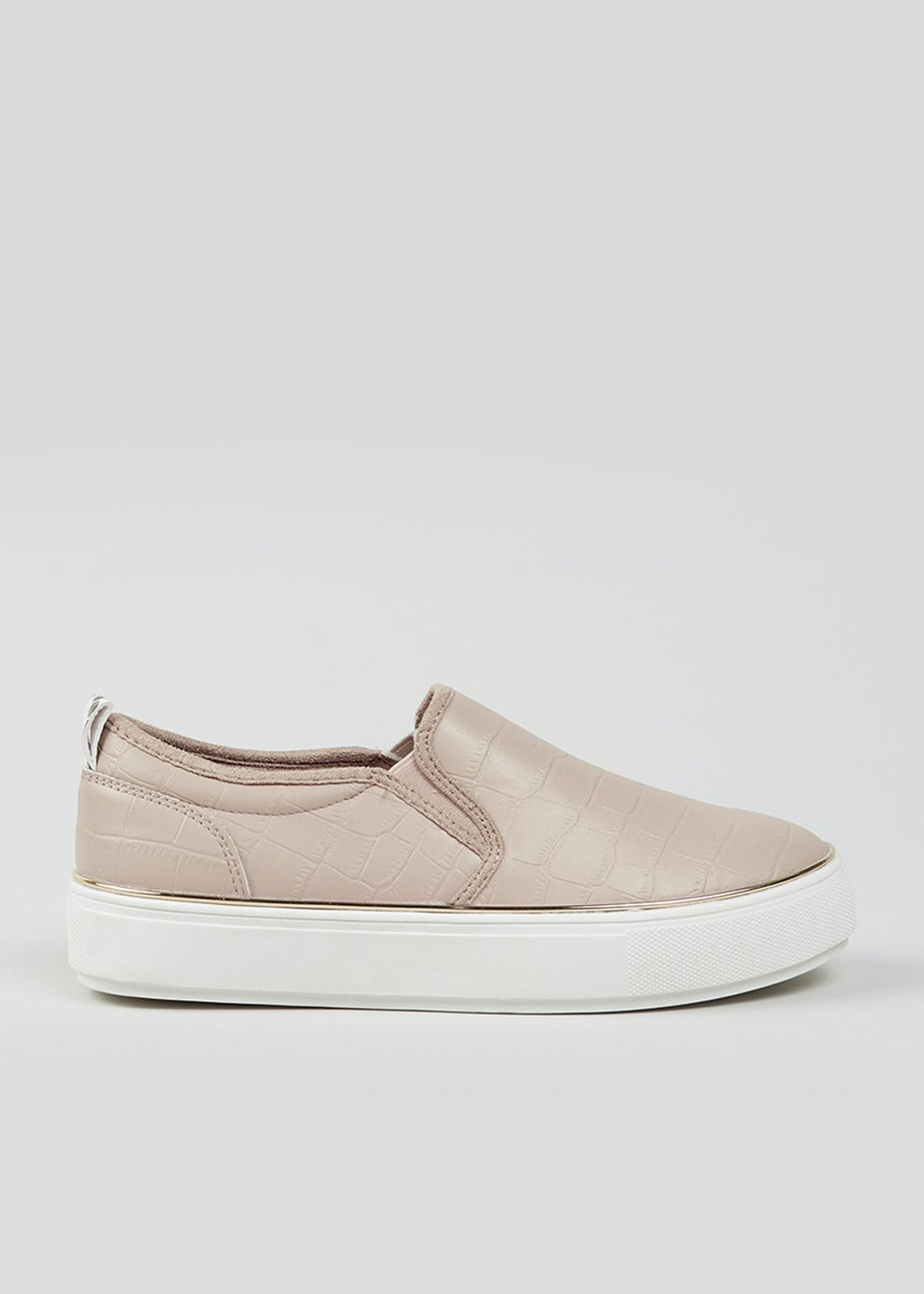 Pink Chunky Slip On Trainers