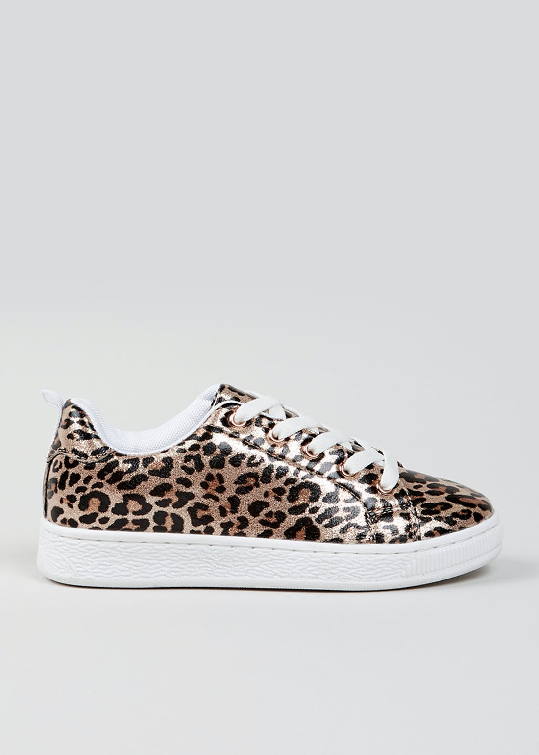 Girls Metallic Leopard Print Trainers (Younger 10-Older 5)
