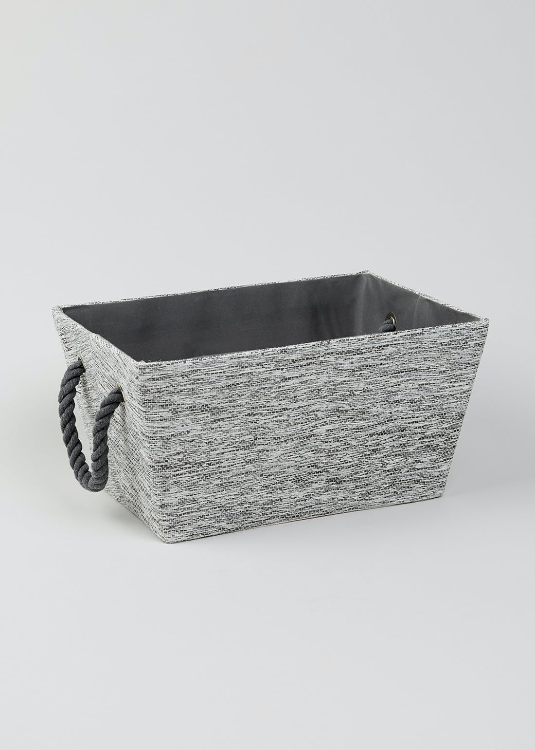 Rope Handle Fabric Storage Tray