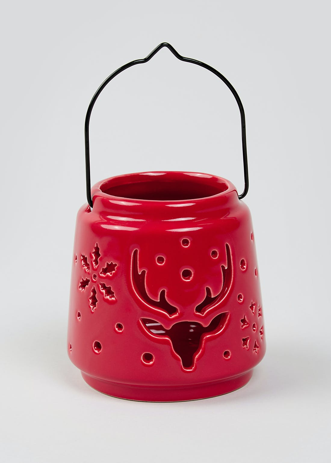 Stag Cut Out Tealight Holder (10cm x 10cm)