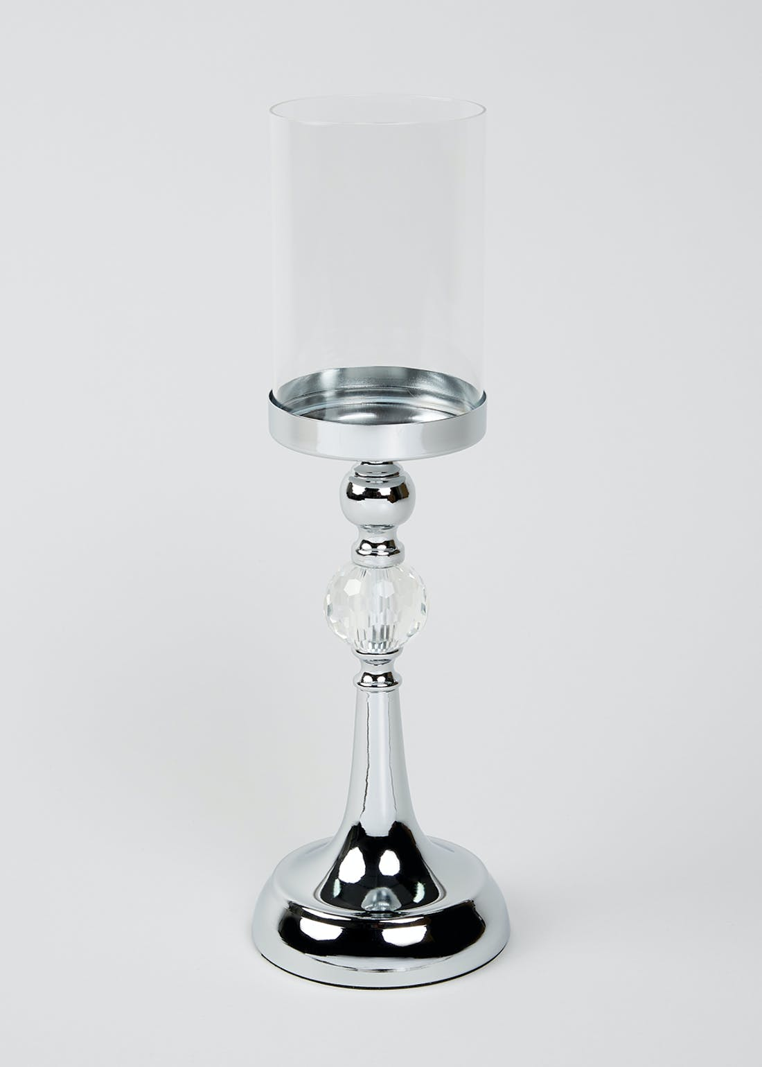 Chrome Finish Candle Holder