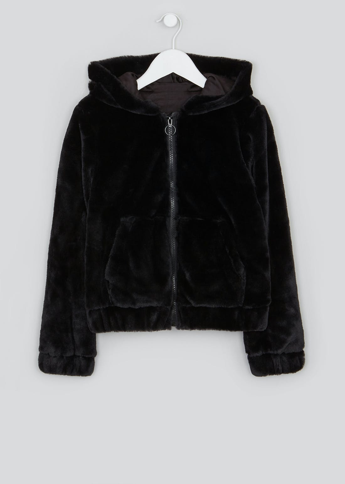 Girls Candy Couture Faux Fur Bomber Jacket (9-16yrs)