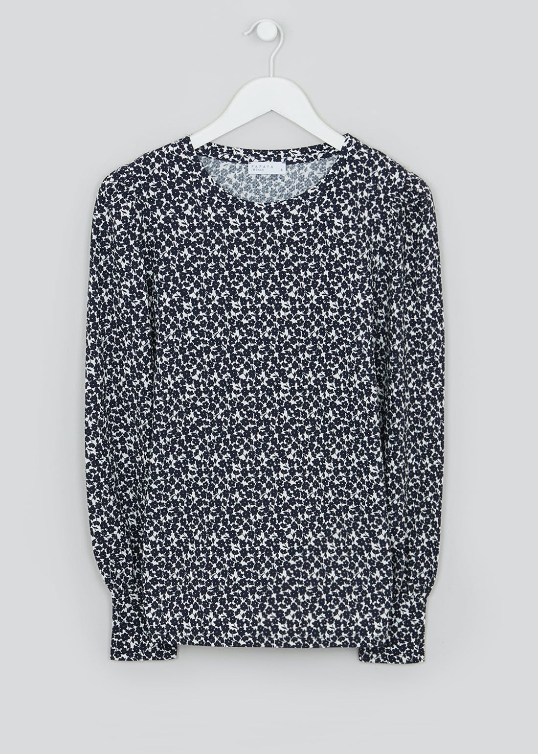 Long Sleeve Floral Textured Top