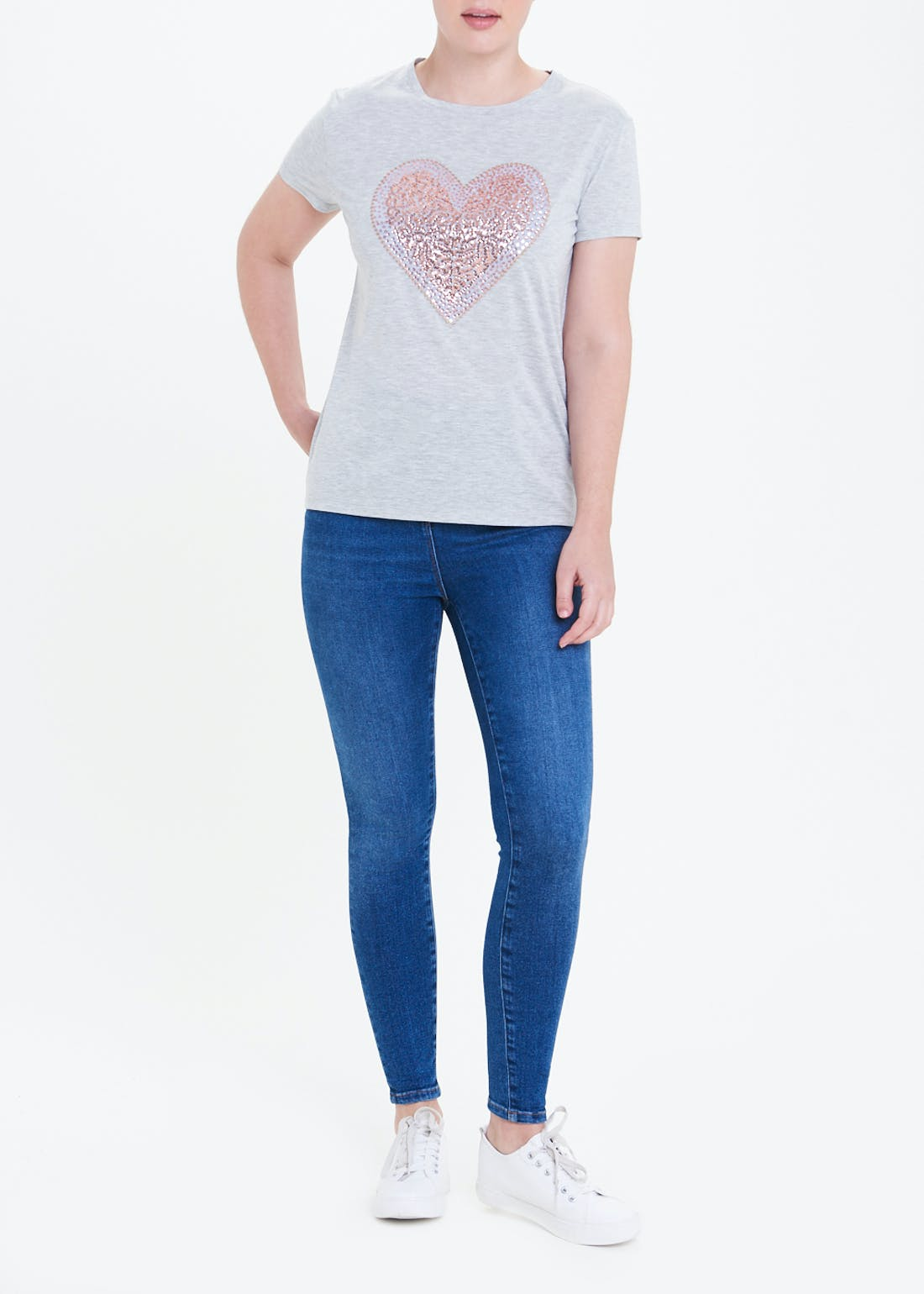 Heart Sequin T-Shirt