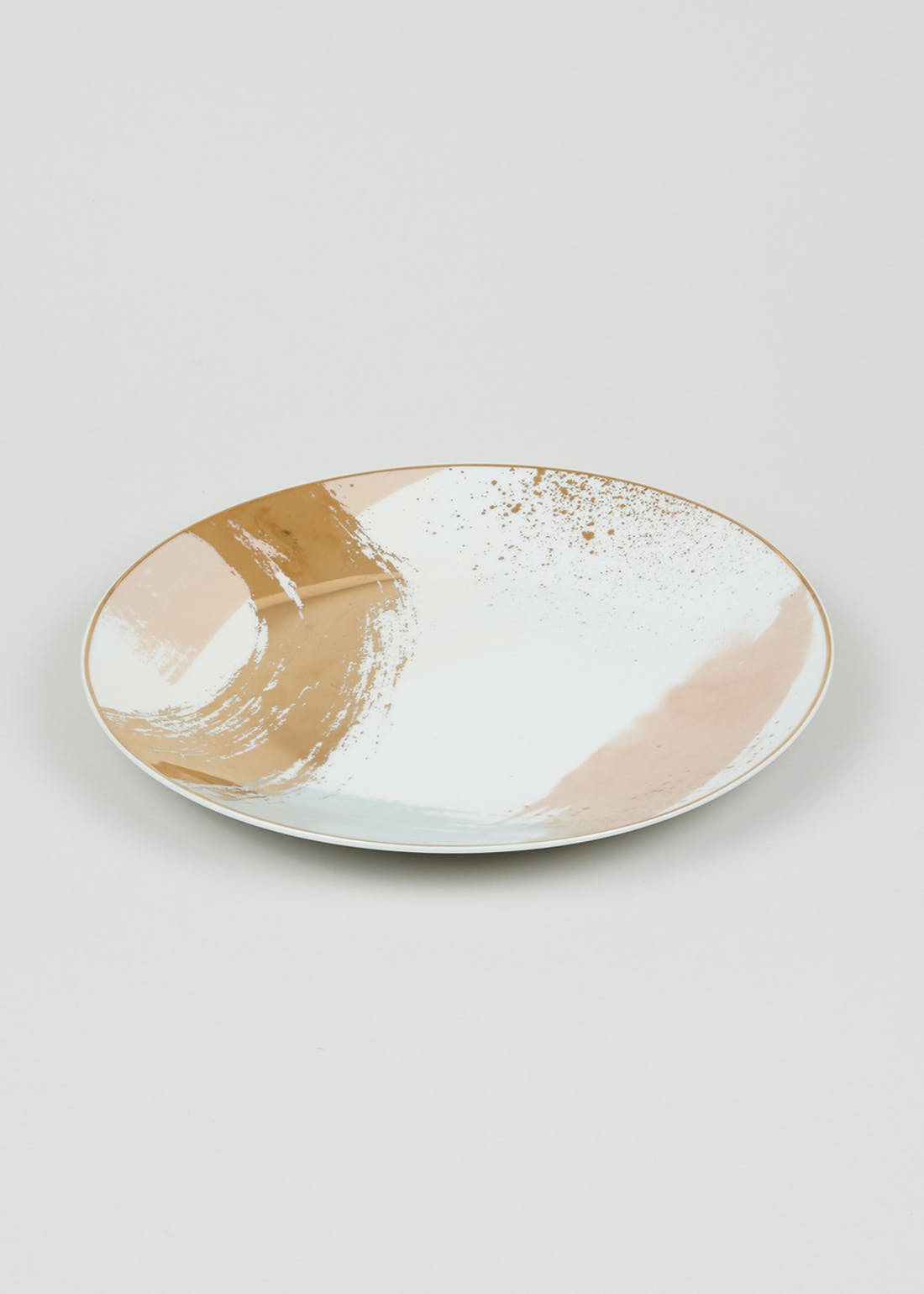 Metallic Brushstroke Dinner Plate (27cm)
