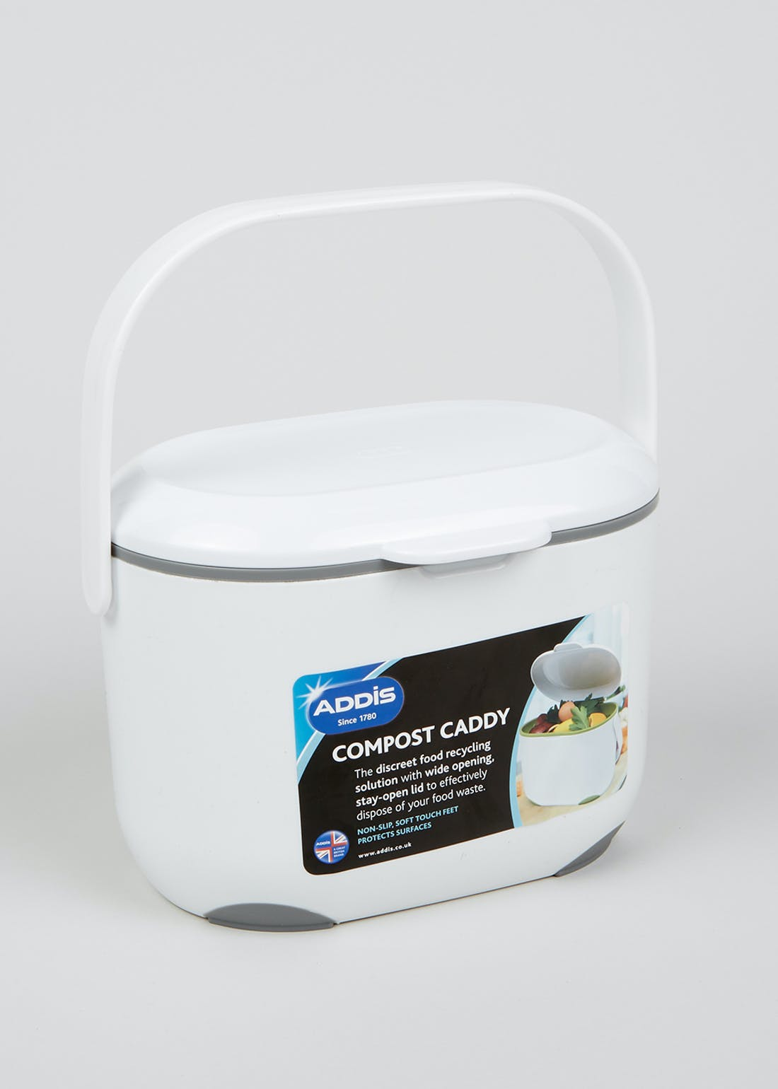 Addis Kitchen 2.5L Compost Caddy (24cm x 18cm)