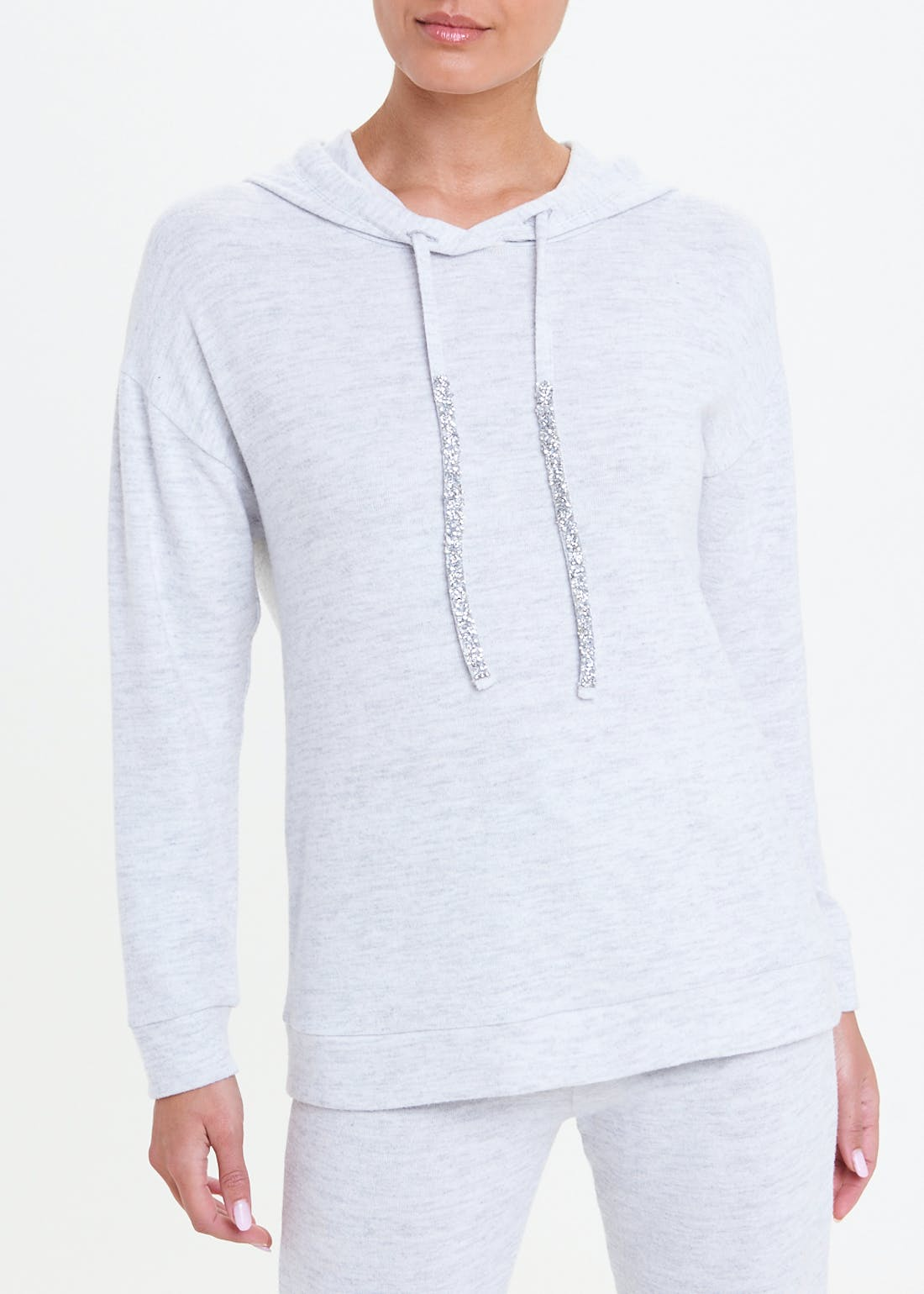 Soft Touch Jewelled Hoodie