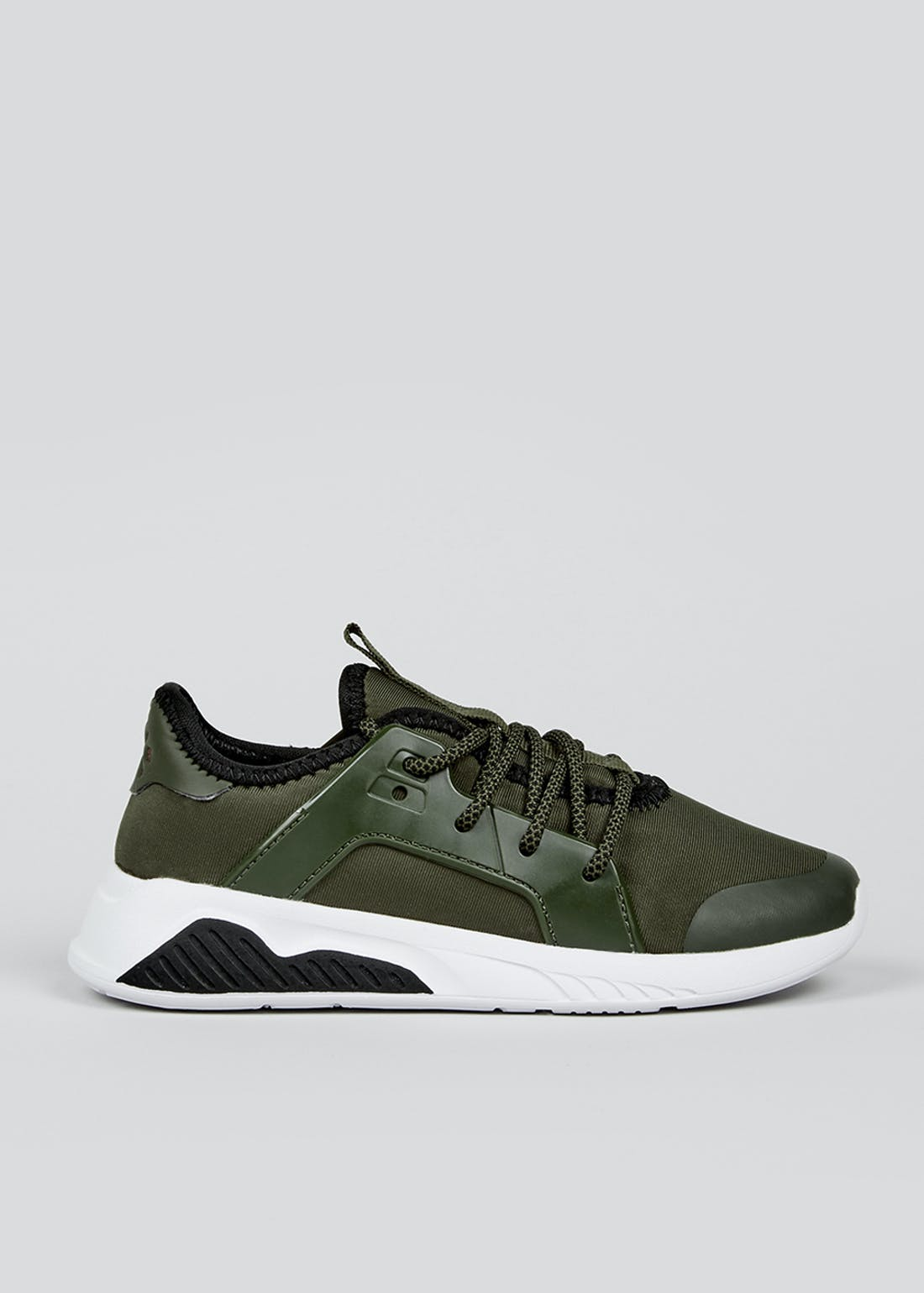 Boys Khaki Sports Trainers (Younger 10-Older 6)