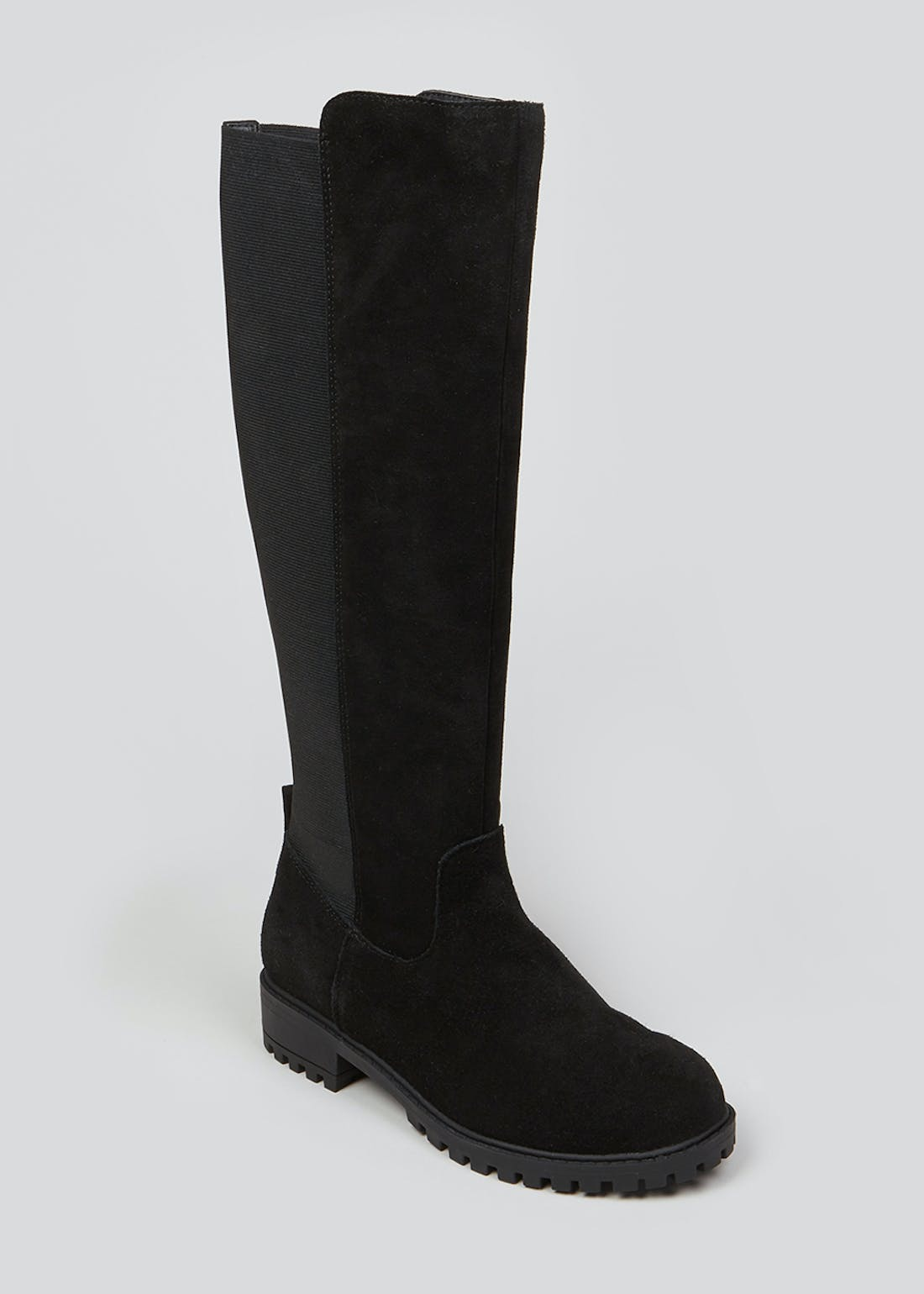 Soleflex Black Real Suede Boots