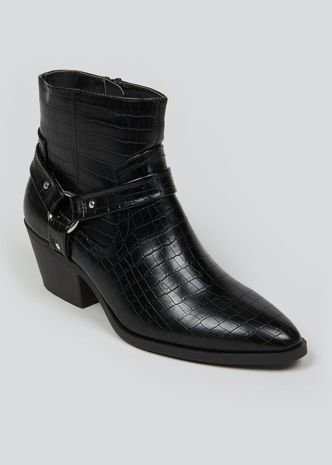 Wide Fit Black Western Boots