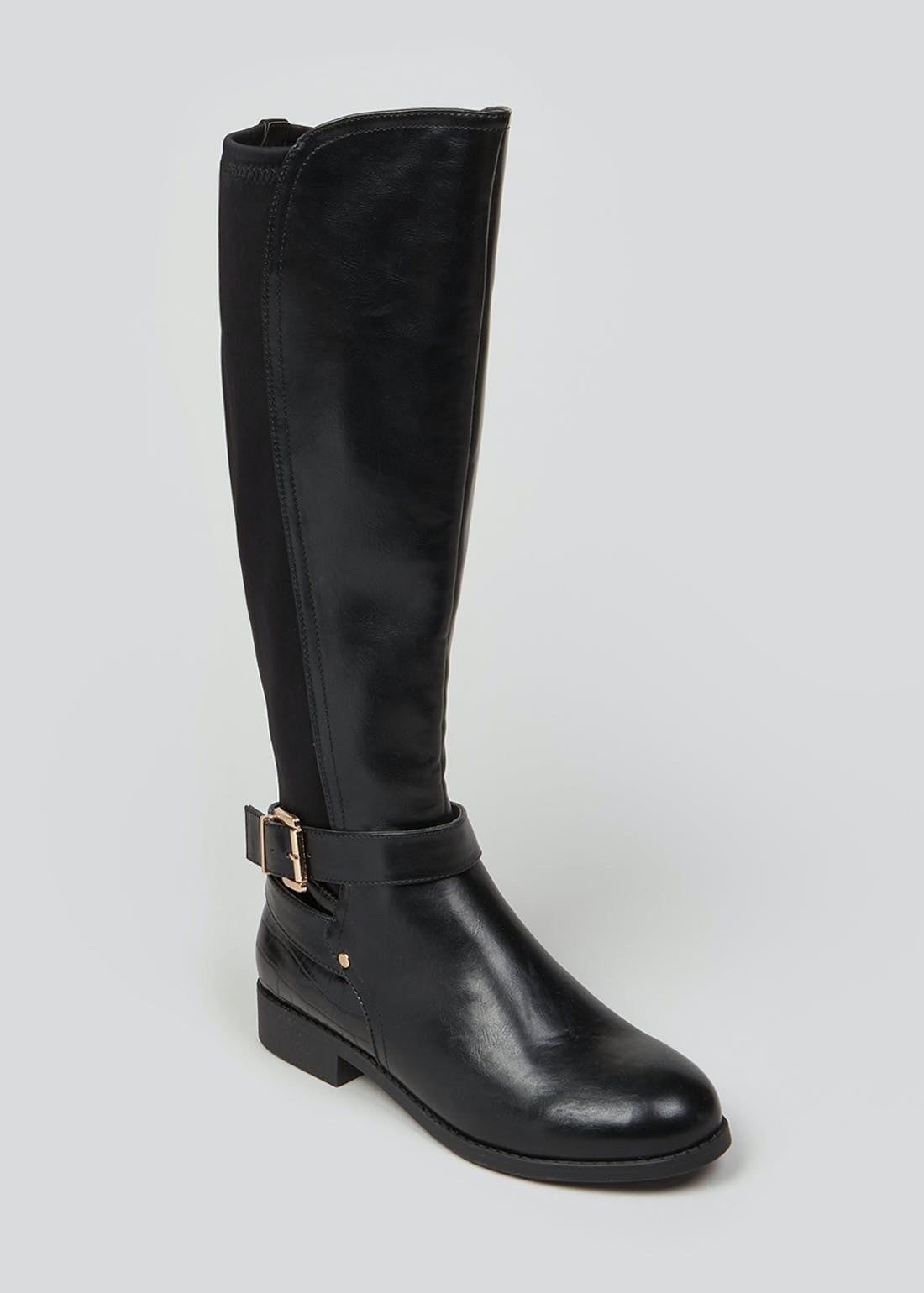 Black Wide Fit Riding Boots