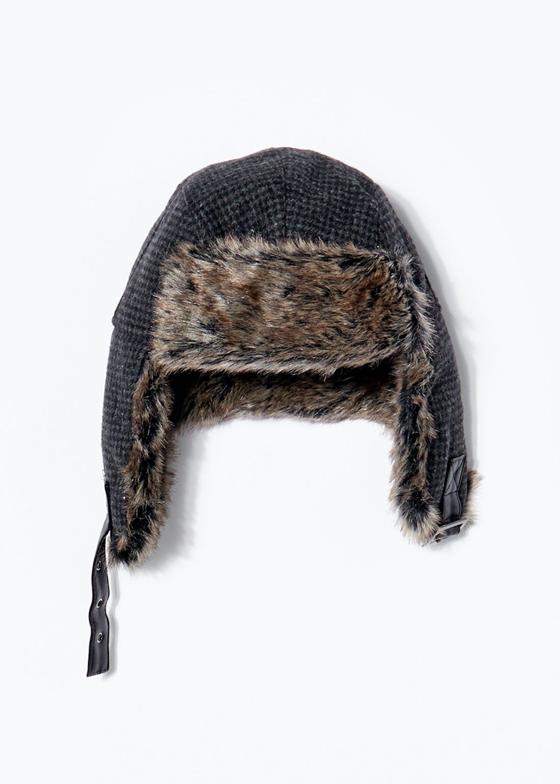 Dogtooth Check Trapper Hat