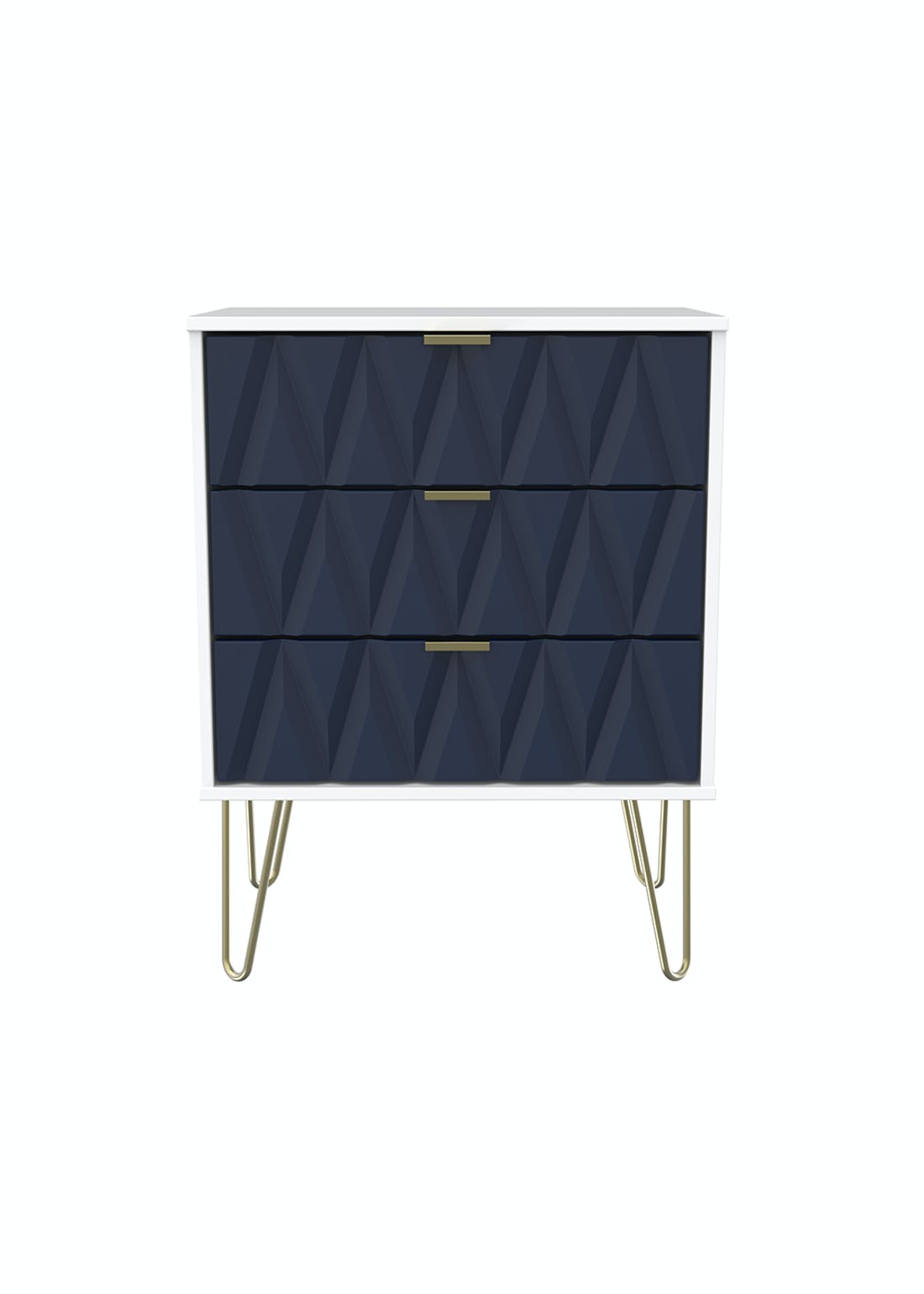 Swift Prism 3 Drawer Midi Chest (74cm x 57.5cm x 39.5cm)