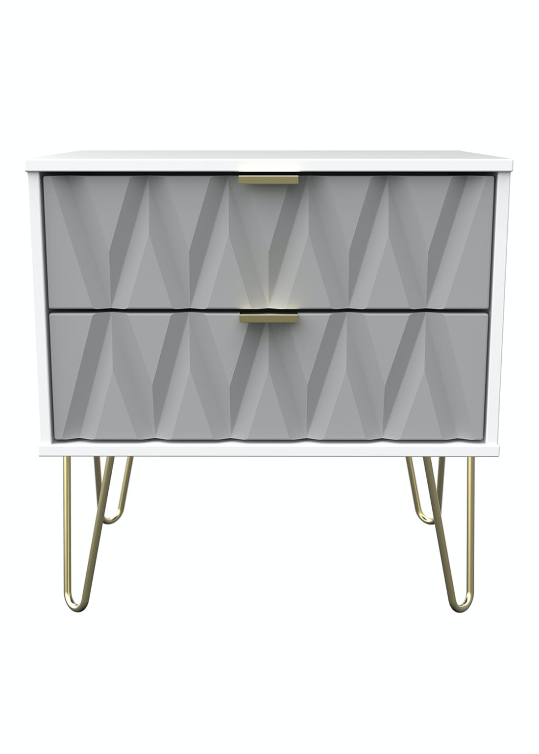 Swift Prism 2 Drawer Chest (57cm x 57.5cm x 39.5cm)
