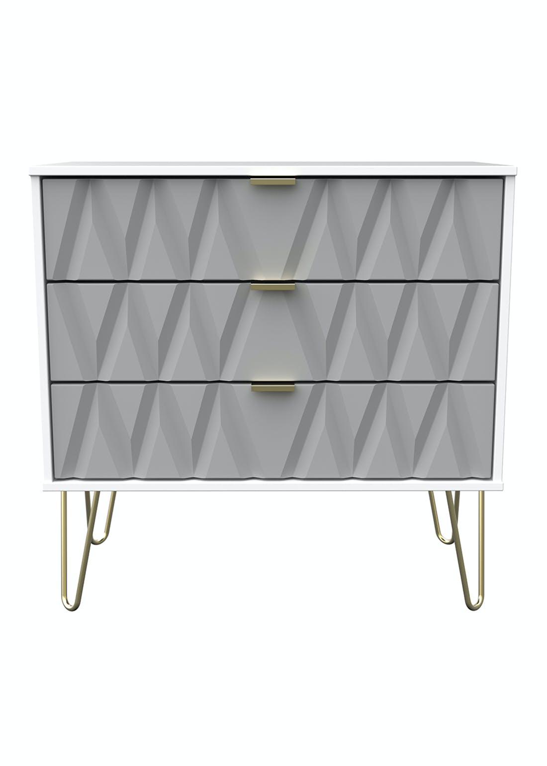 Swift Prism 3 Drawer Chest (74cm x 76.5cm x 39.5cm)