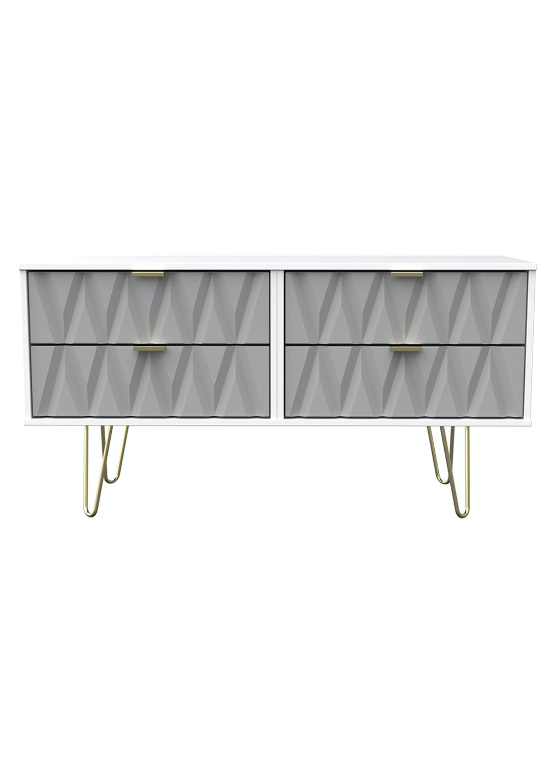 Swift Prism 4 Drawer End of Bed Chest (50.5cm x 112cm x 41.5cm)