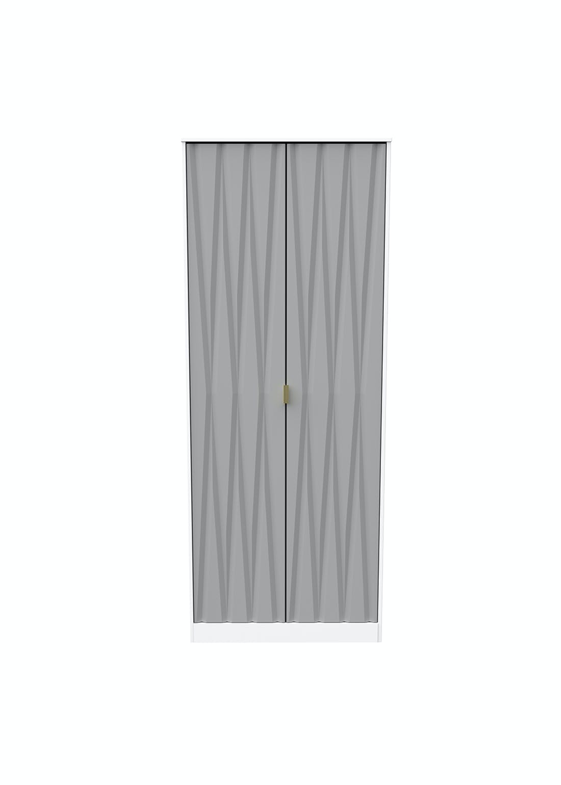 Swift Prism 2 Door Wardrobe (201.5cm x 76.5cm x 53cm)