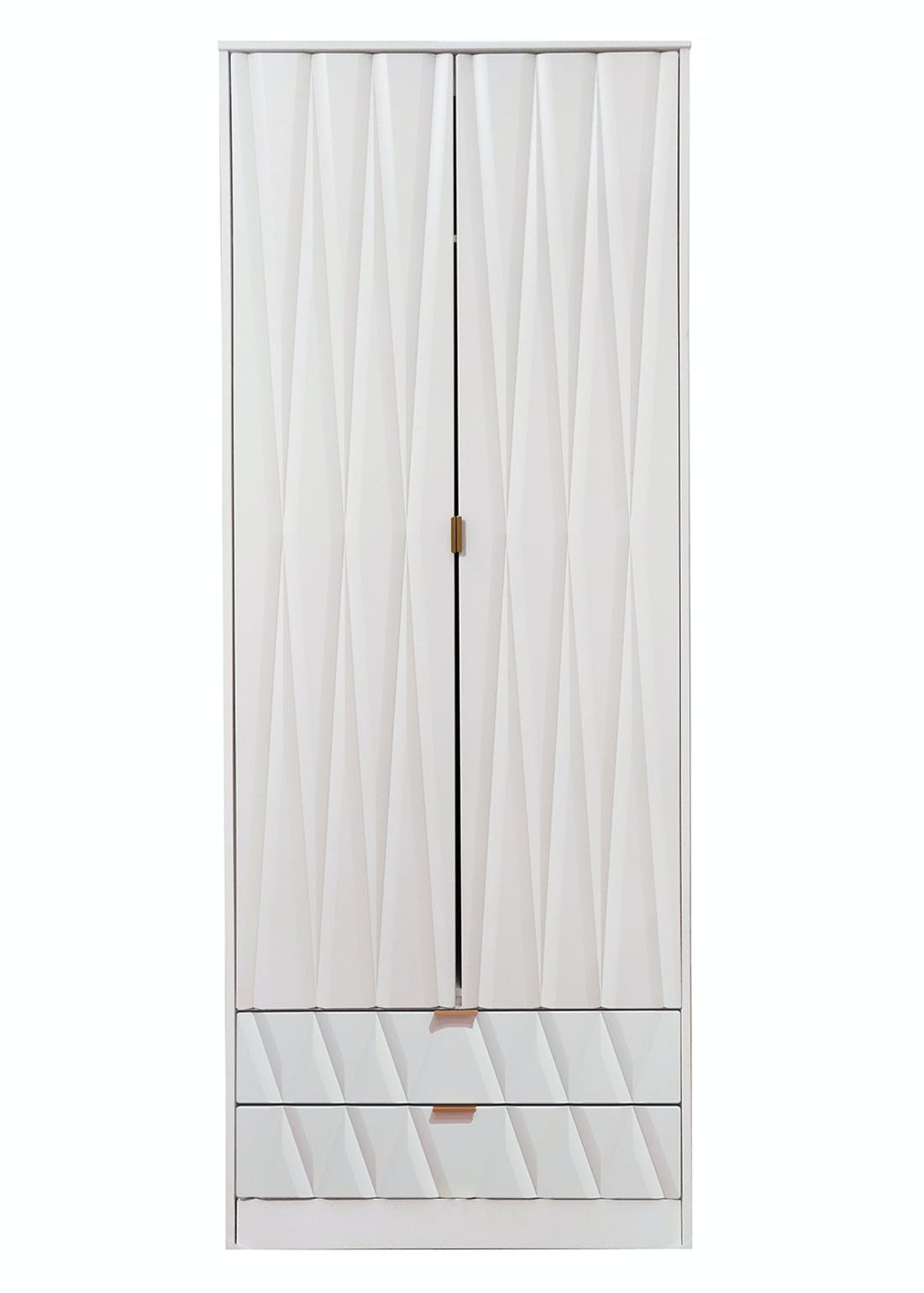 Swift Prism 2 Door 2 Drawer Wardrobe (201.5cm x 76.5cm x 53cm)