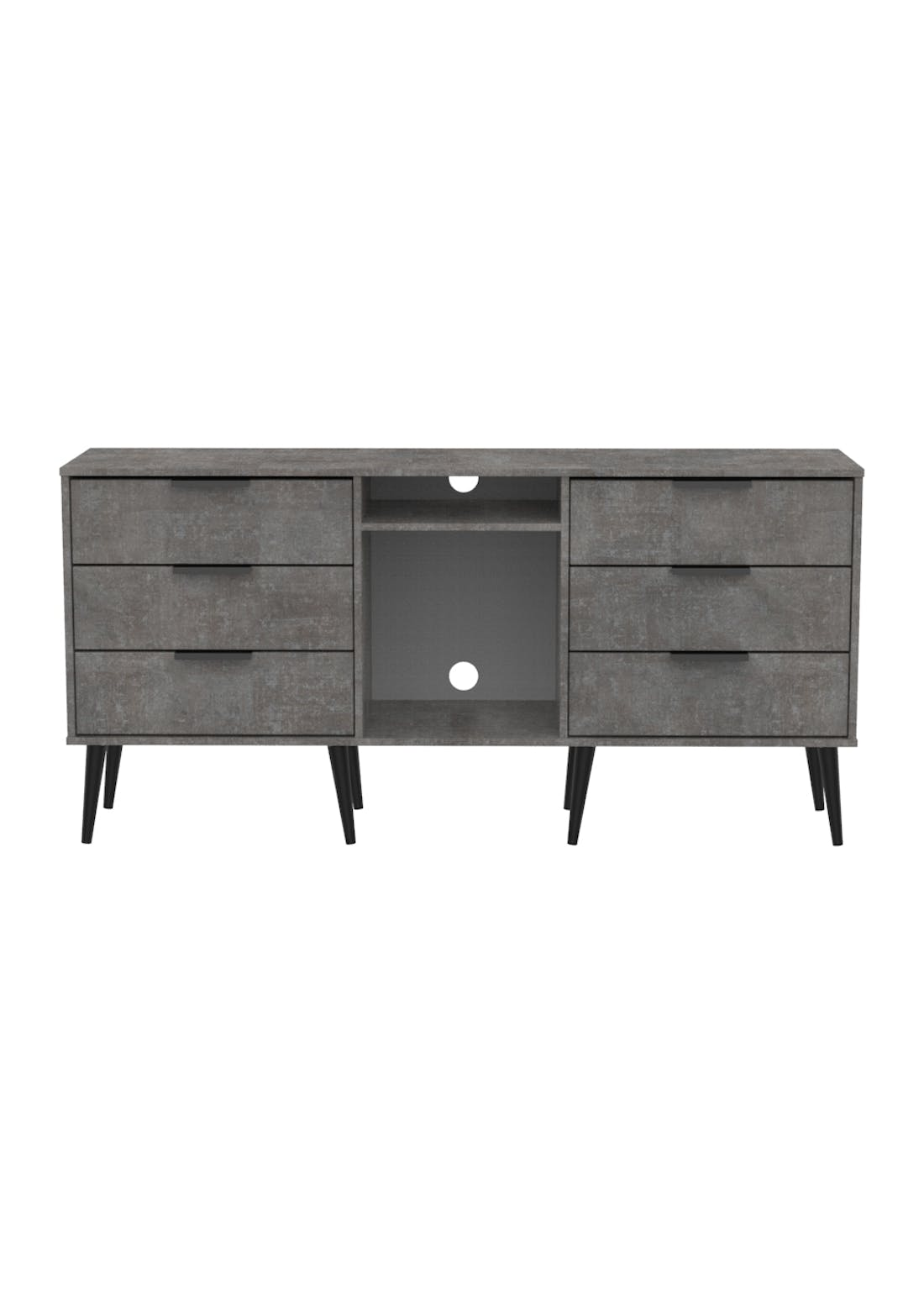 Swift Milano 6 Drawer TV Unit (74cm x 152cm x 39.5cm)