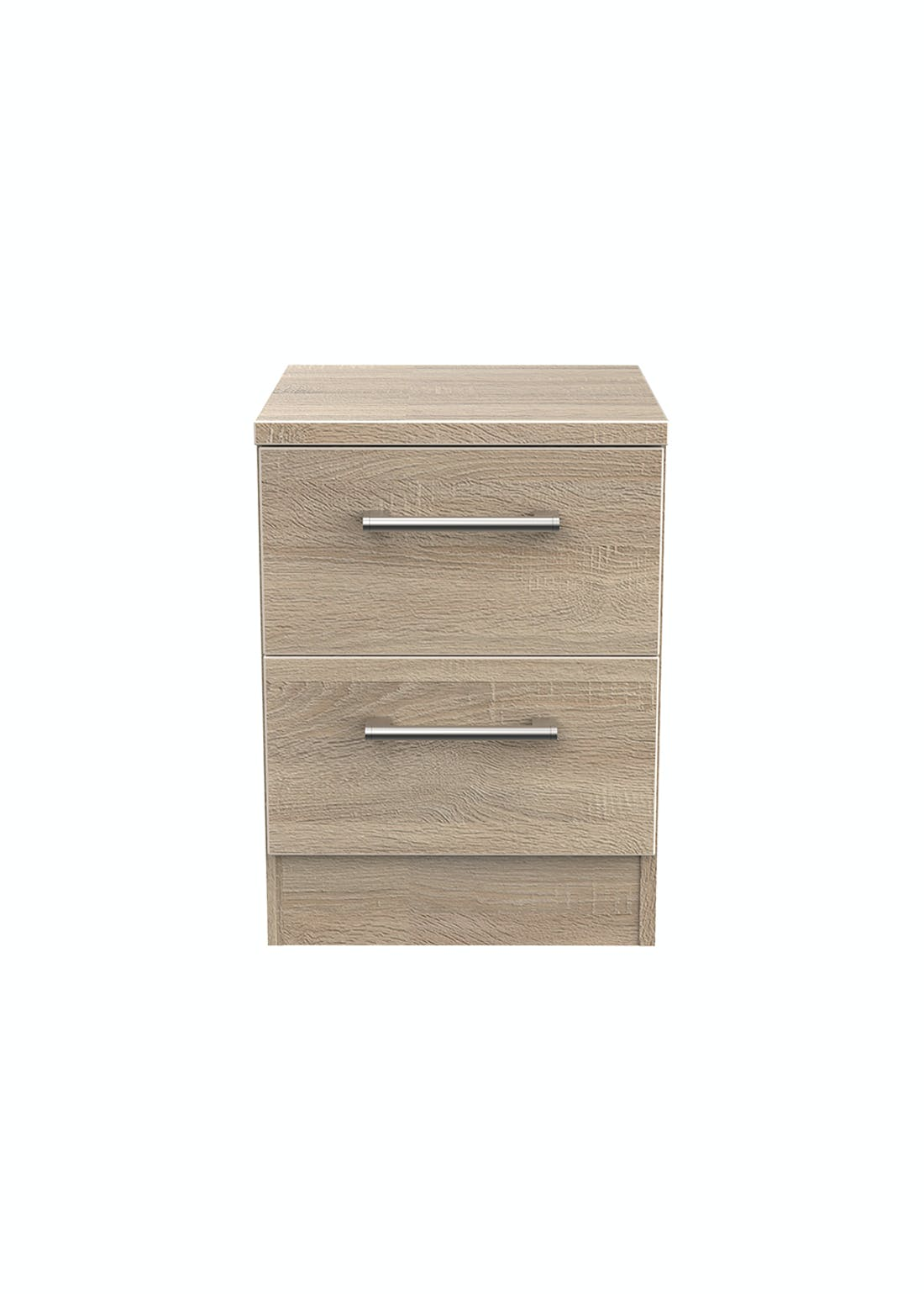 Swift Bari 2 Drawer Bedside Table (50.5cm x 39.5cm x 41.5cm)