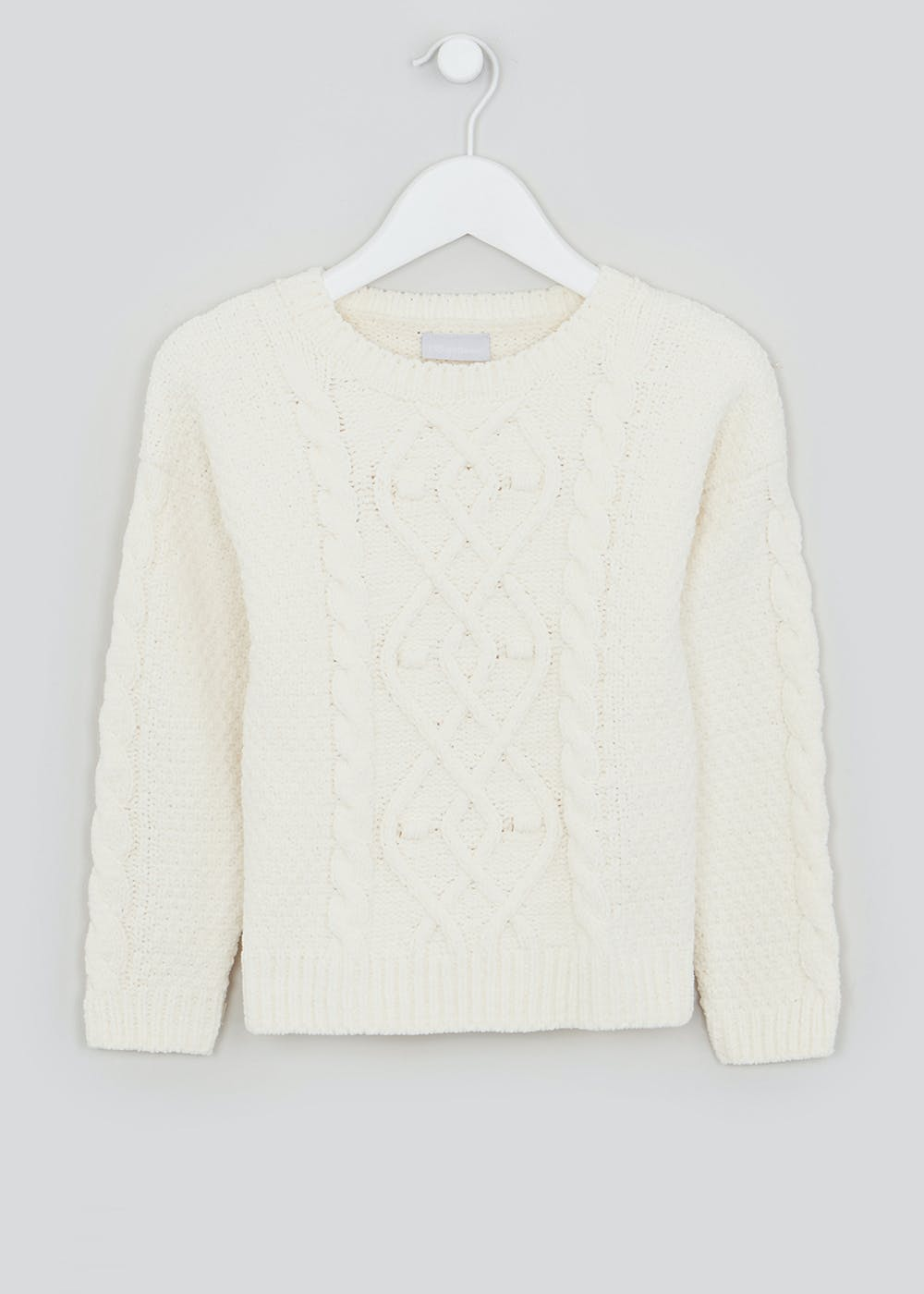 Girls Cable Knit Jumper (4-13yrs) – Cream