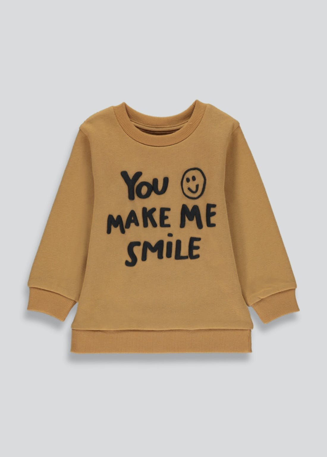 Boys Long Sleeve Smile Slogan T-Shirt (9mths-6yrs)
