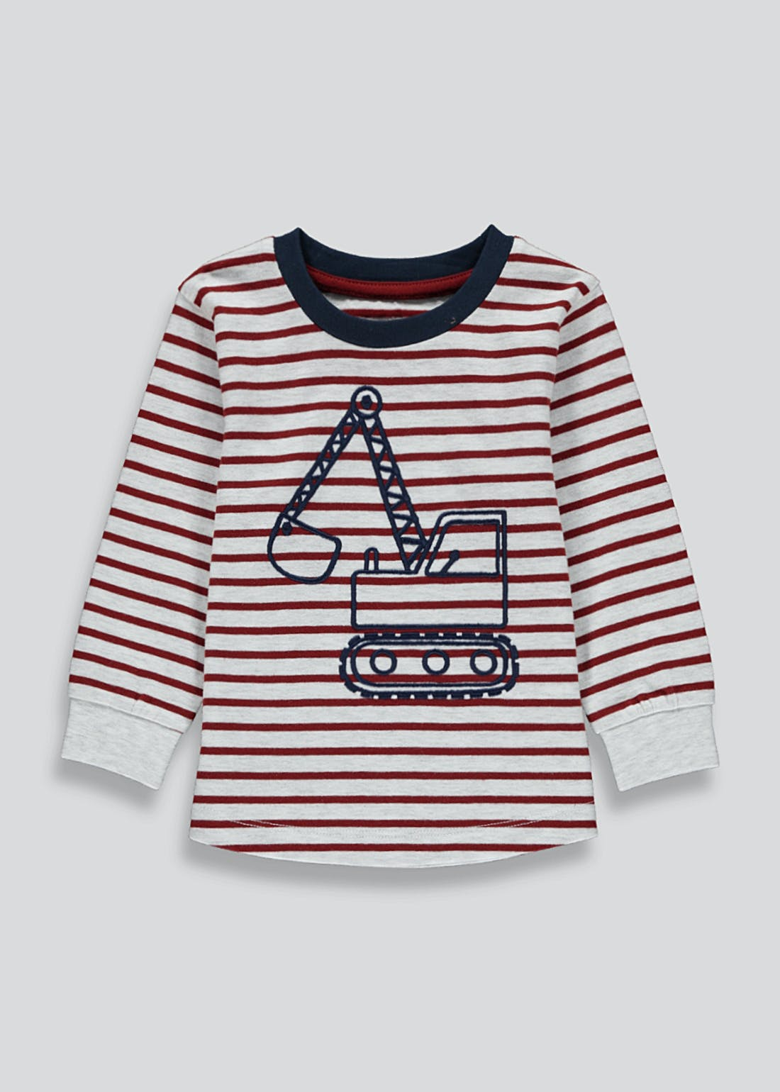 Boys Long Sleeve Digger T-Shirt (9mths-6yrs)