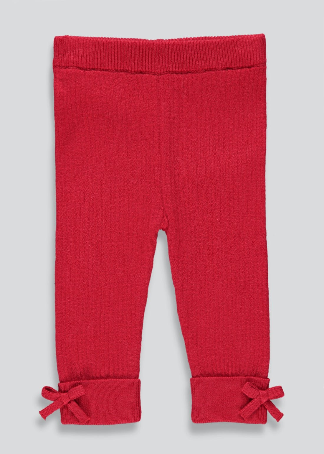 Girls Ribbed Bow Side Leggings (Tiny Baby-23mths)