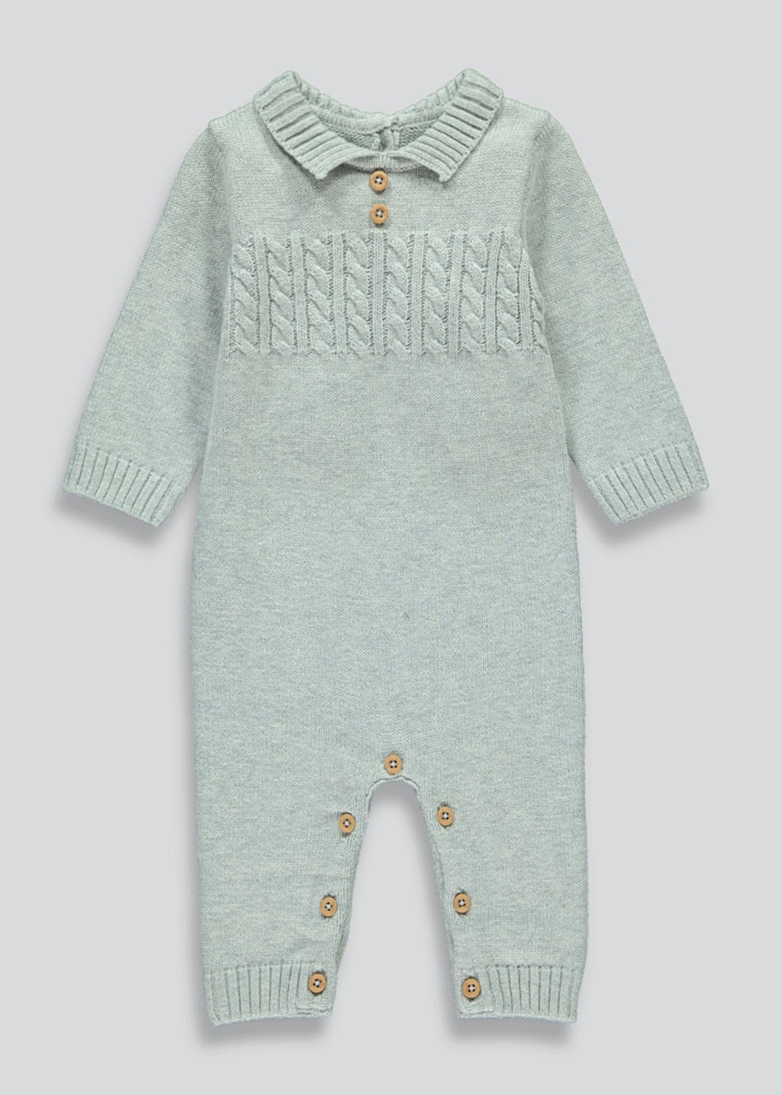 Unisex Knitted Baby Grow (Tiny Baby-18mnths)