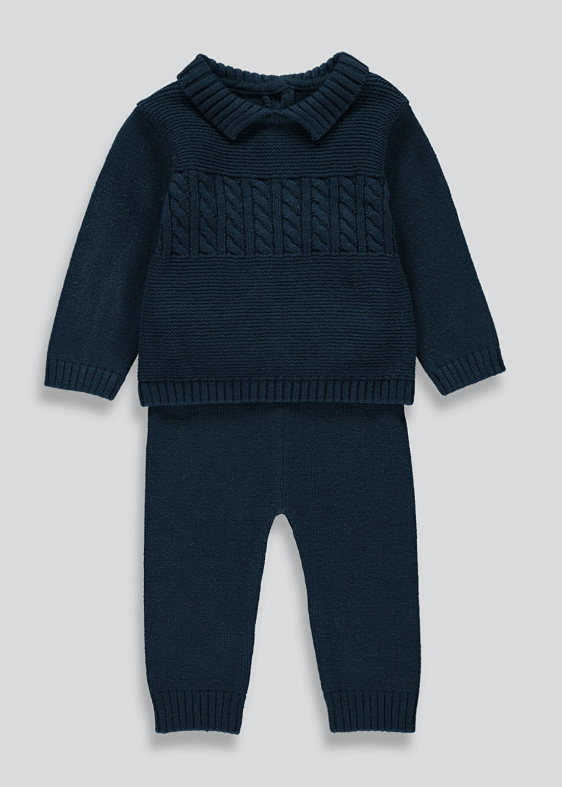 Boys Knitted Top & Bottoms Set (Newborn-23mths)