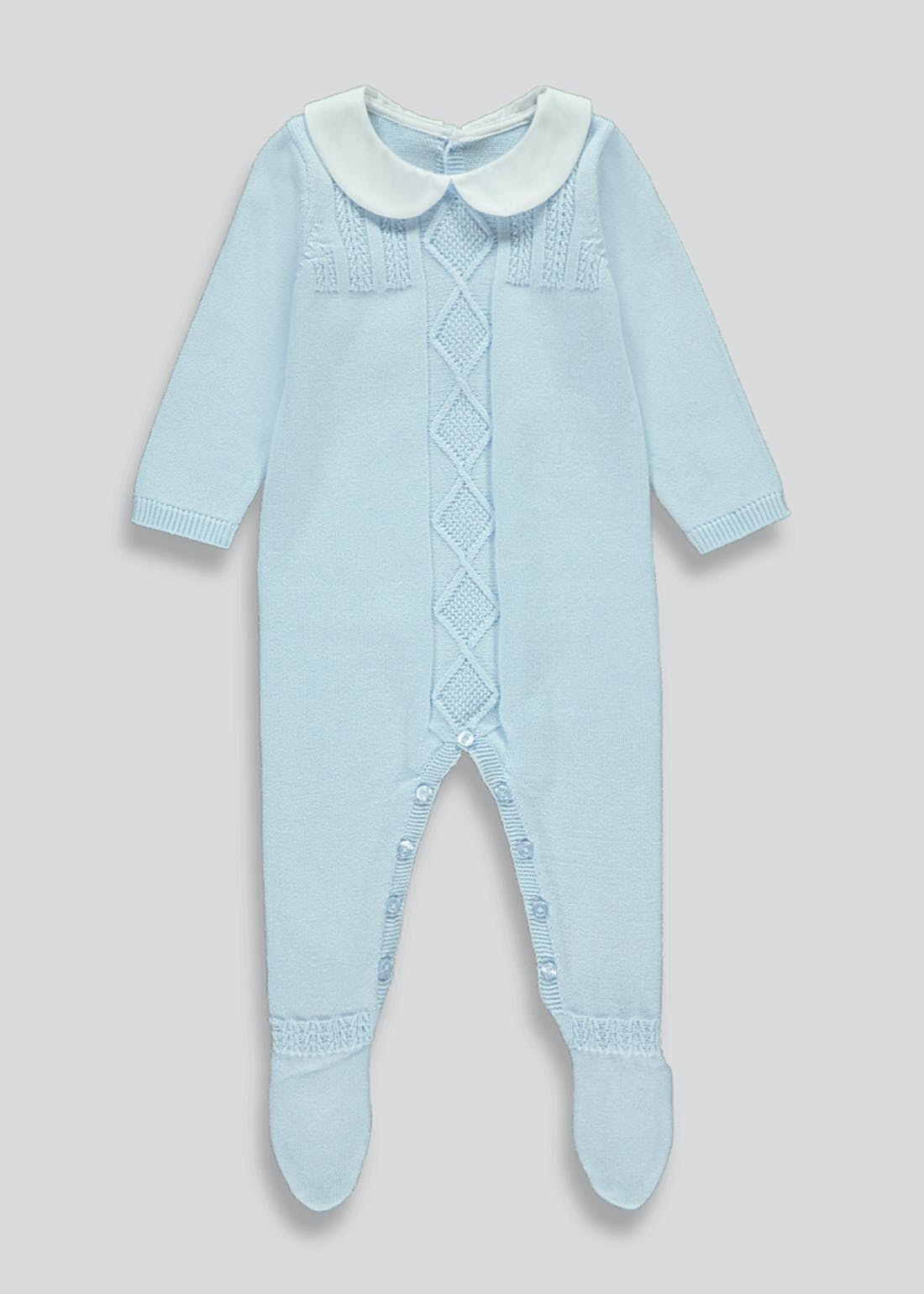 Boys Knitted Romper (Tiny Baby-18mths)