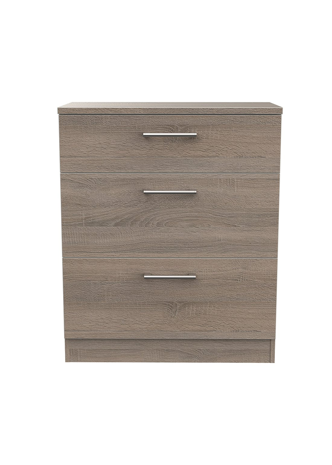 Swift Bari 3 Drawer Deep Chest (88.5cm x 76.5cm x 41.5cm)