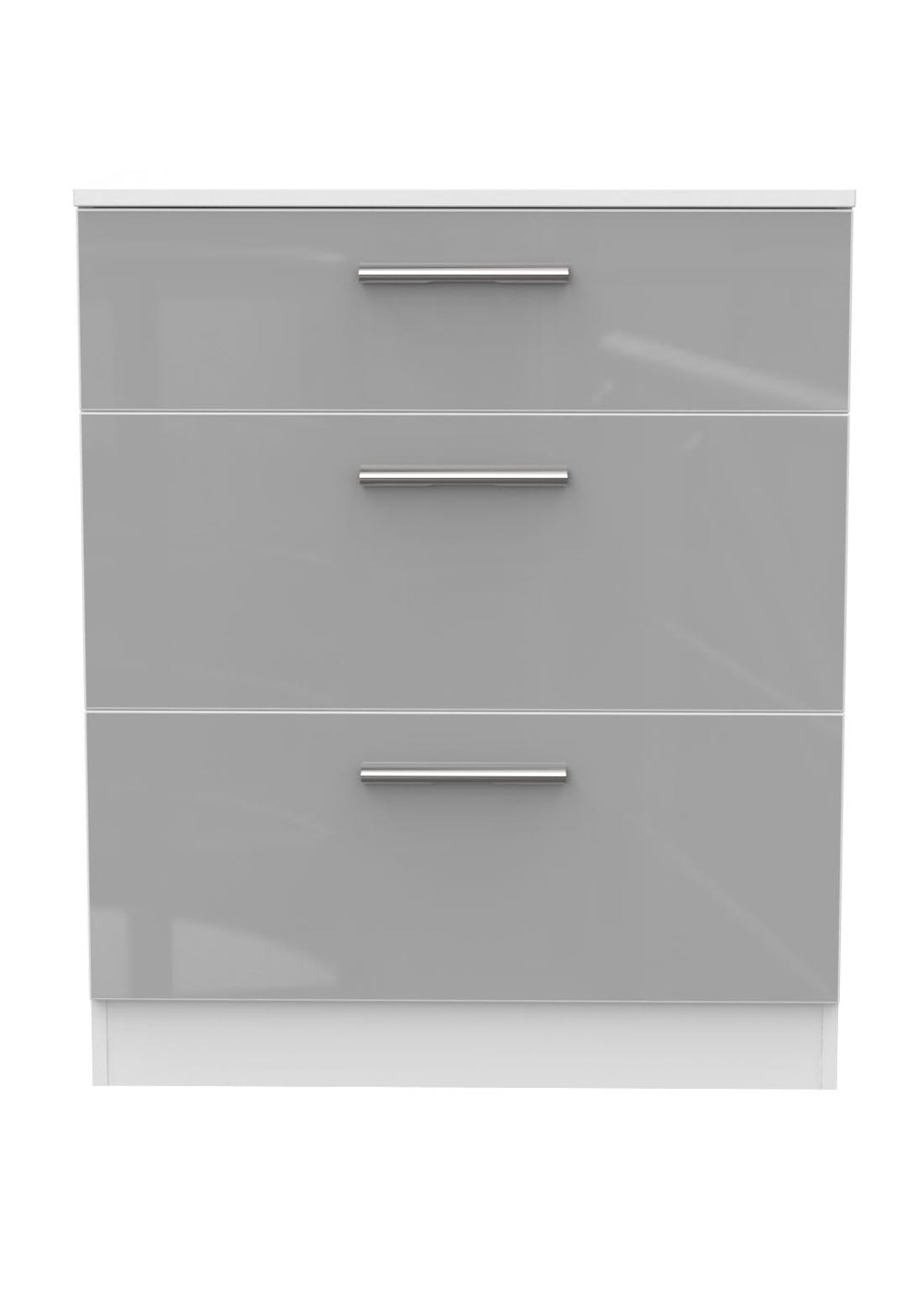 Swift Prague 3 Drawer Deep Chest (88.5cm x 76.5cm x 41.5cm)