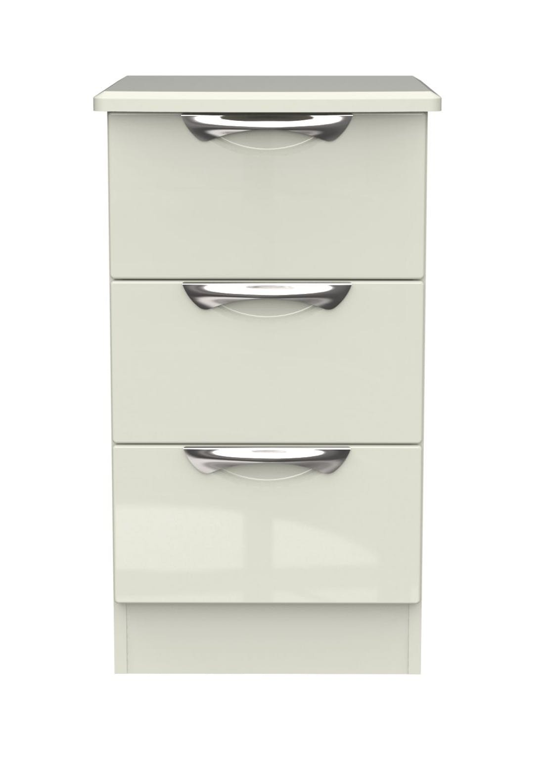 Swift Bordeaux 3 Drawer Bedside Table (69.5cm x 39.5cm x 41.5cm)