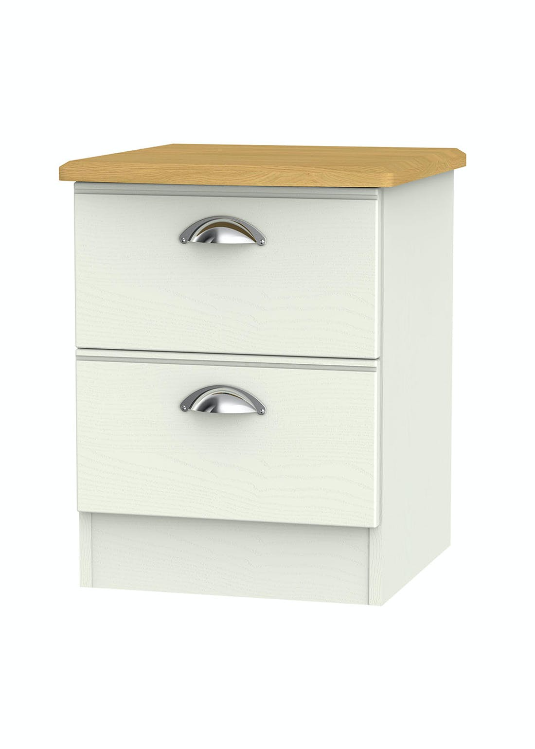 Swift Stamford 2 Drawer Bedside Table (50.5cm x 39.5cm x 41.5cm)