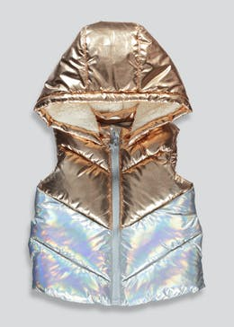 Girls Metallic Hooded Gilet (9mths-6yrs)