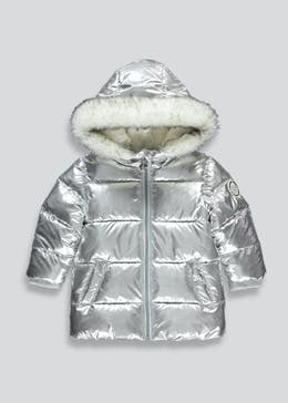 Girls Silver Padded Coat (9mths-6yrs)