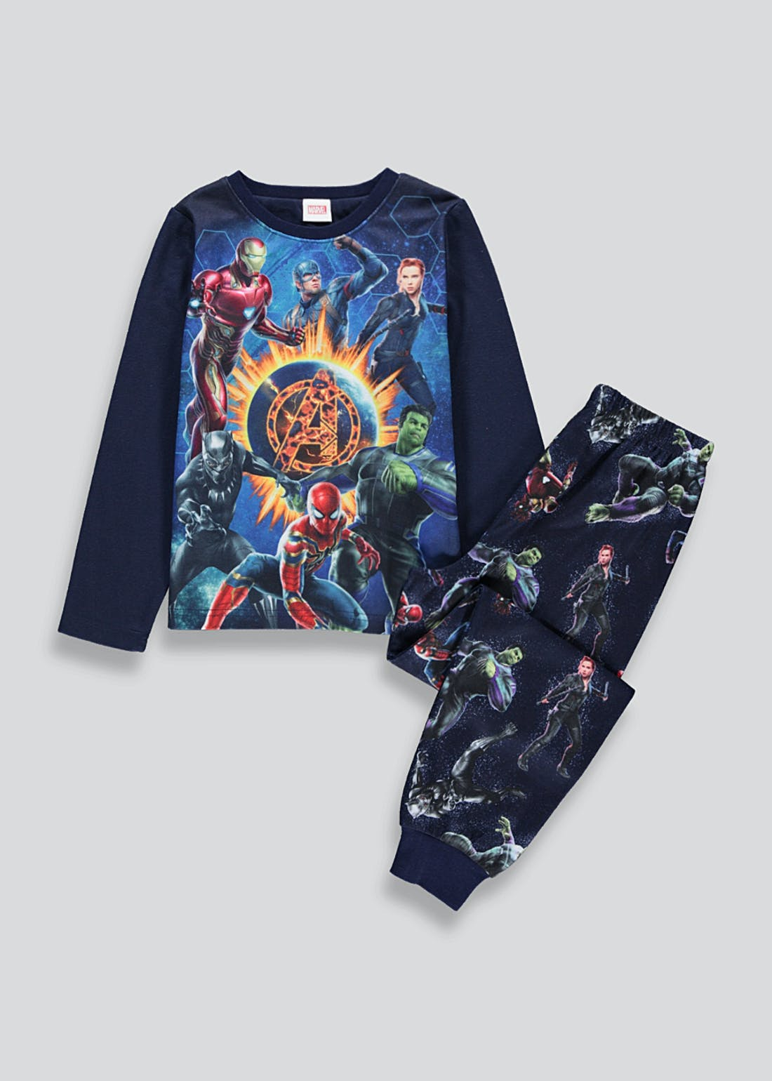 Kids Marvel Fleece Pyjama Set (2-9yrs)