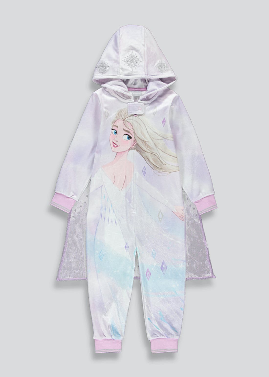 Kids Disney Frozen Hooded Fleece Onesie (2-9yrs)